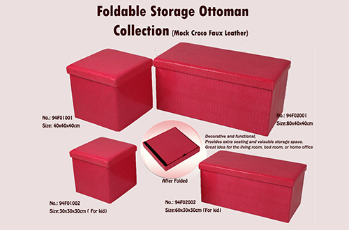 Foldable storage ottoman stool - Products